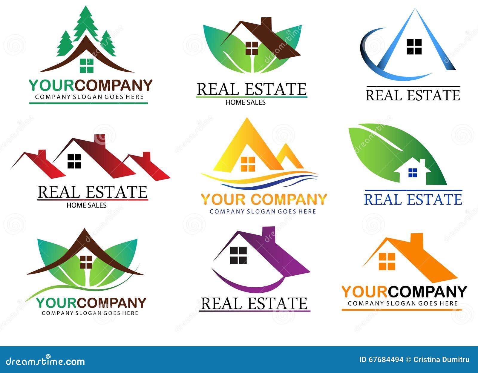 Set Of Real Estate Logo Designs, Building Logo Design Stock Vector ...