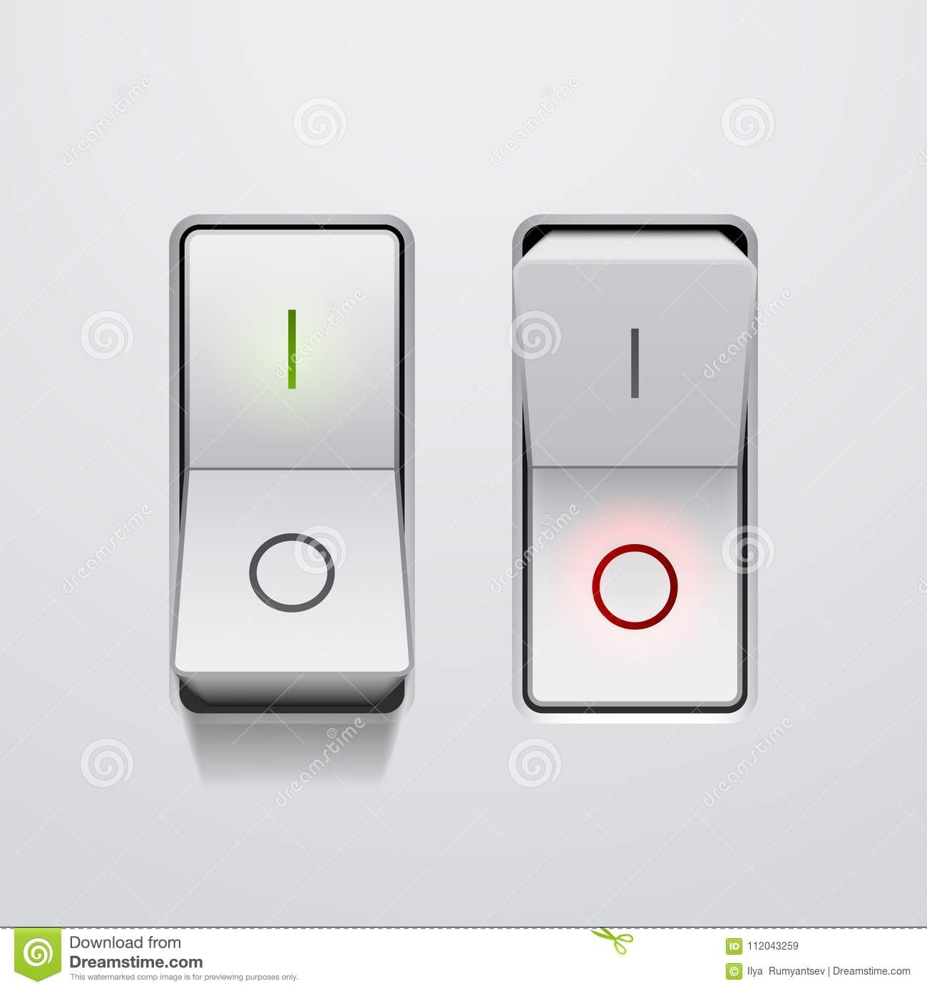 On And Off Switch Buttons Download Free Vector Art Stock Toggle Electronicslab Set Of Realistic Switches In Positions