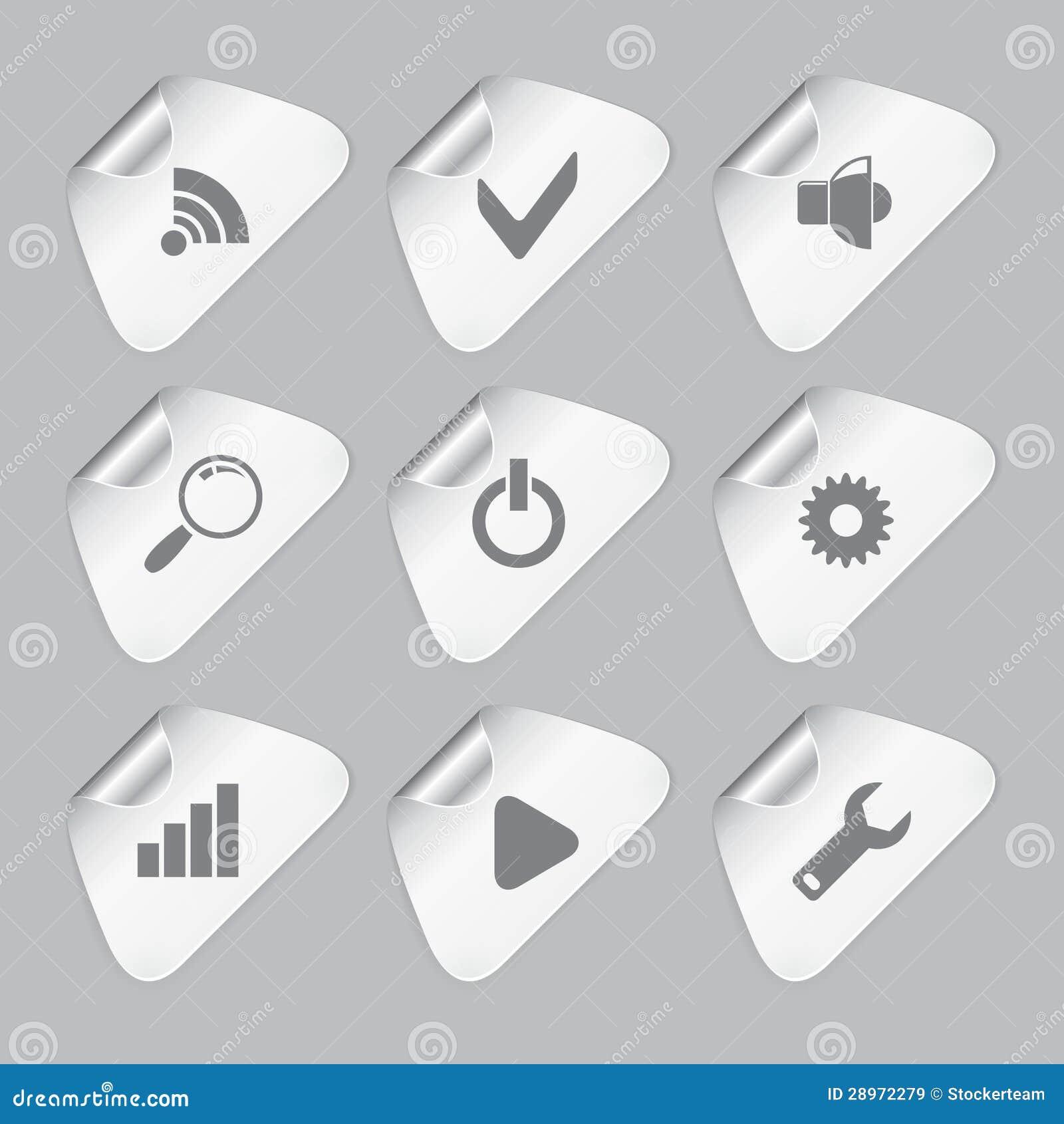 Set redaktor wytłacza wzory ikony