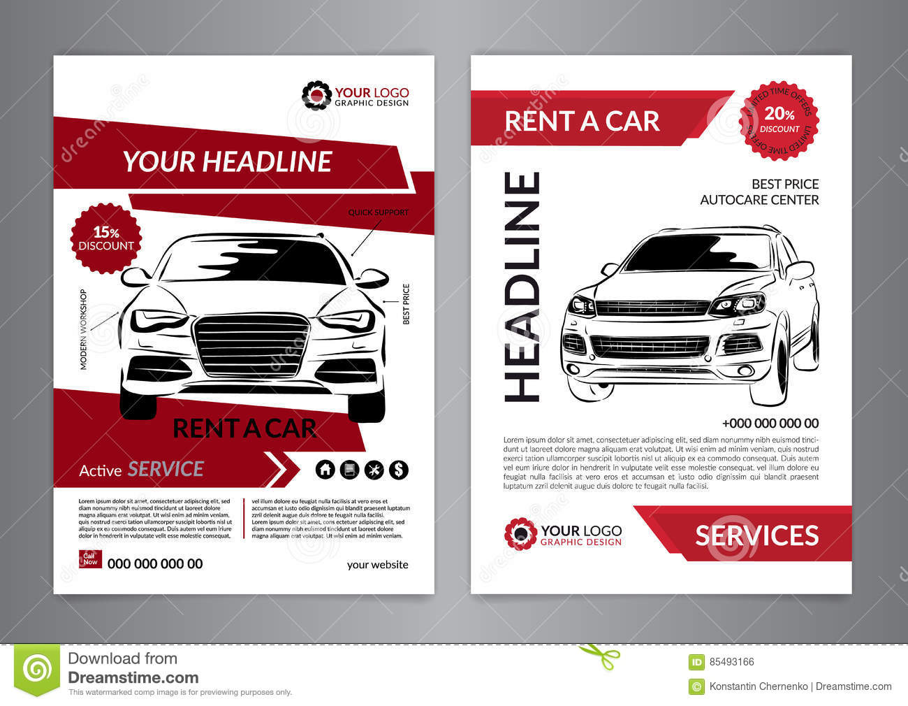 set a rent a car business flyer template auto service brochure set a4 rent a car business flyer template auto service brochure templates automobile magazine