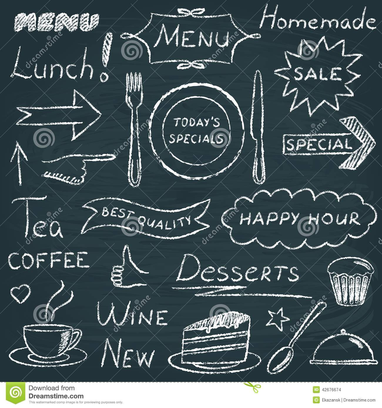 Set Of Restaurant Menu Design Elements Stock Vector
