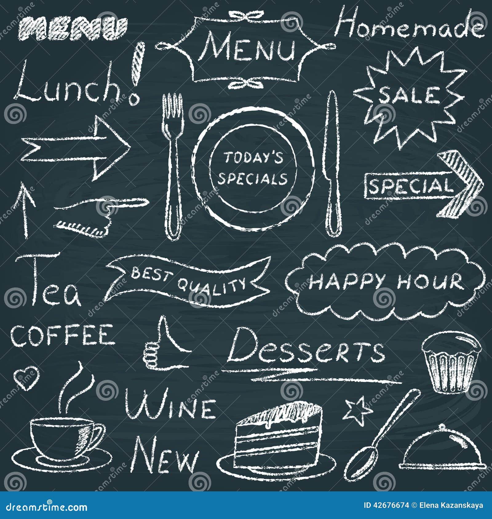 Set Of Restaurant Menu Design Elements Stock Vector