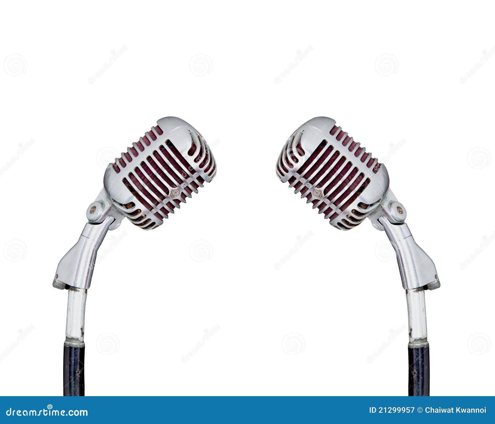 Set of Retro Microphone