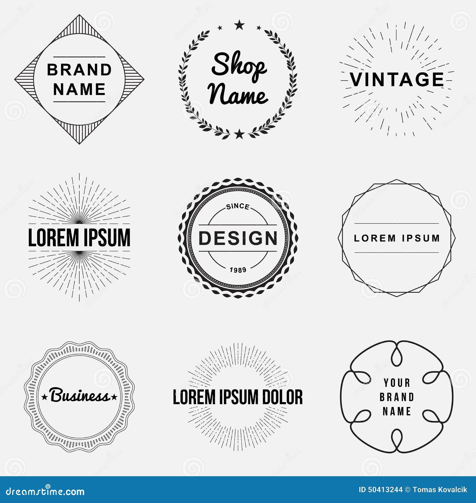 Set Of Retro Vintage Badges And Label Logo Graphics Stock