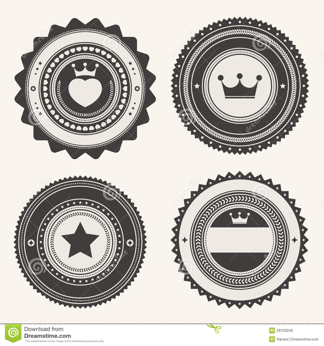 ... Vintage Badges And Labels Royalty Free Stock Images - Image: 29193249