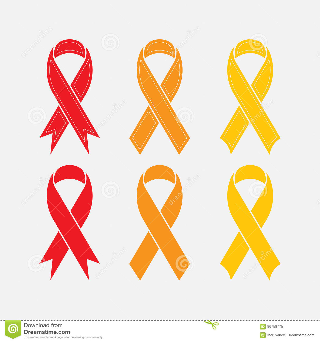 Set of ribbons symbol of breast cancer disease stock illustration set of ribbons symbol of breast cancer disease biocorpaavc Images