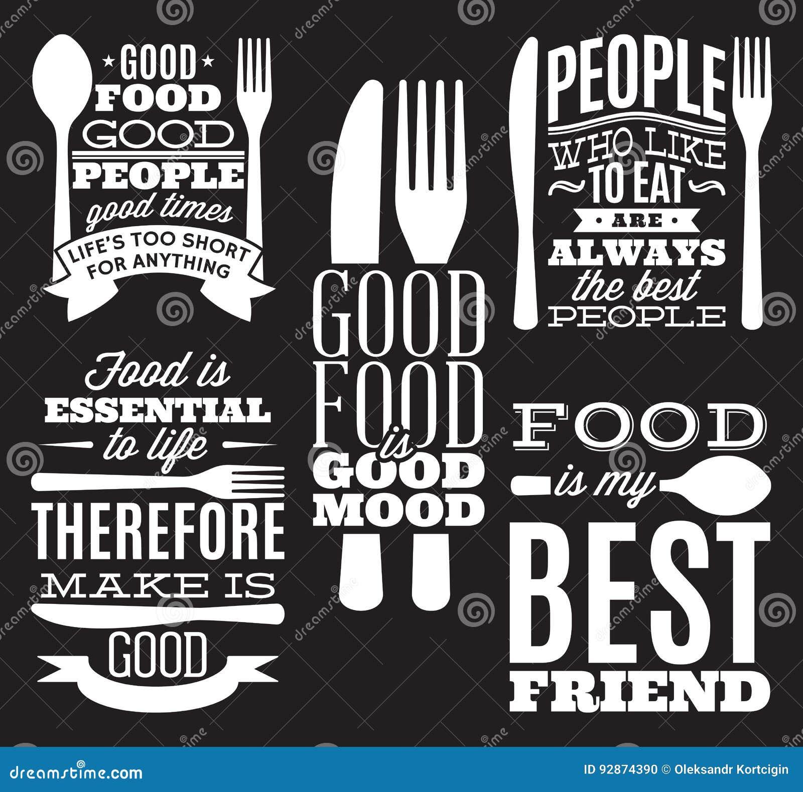 Set rocznika jedzenia typograficzne wycena dla menu lub przesunięcia z nożem, łyżka, rozwidlenie