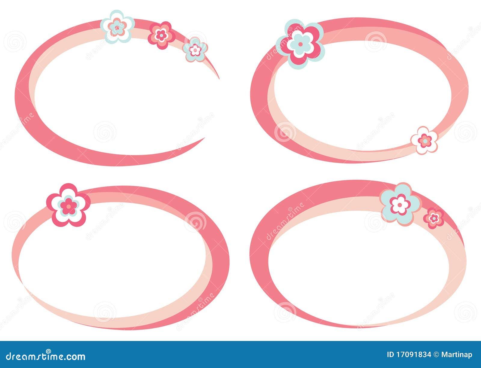 Set rosafarbene Felder