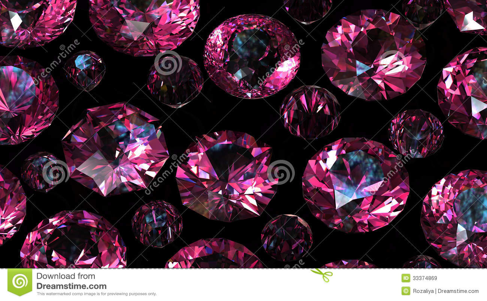 Set Of Round Diamond Gemstone Stock Image Image 33374869