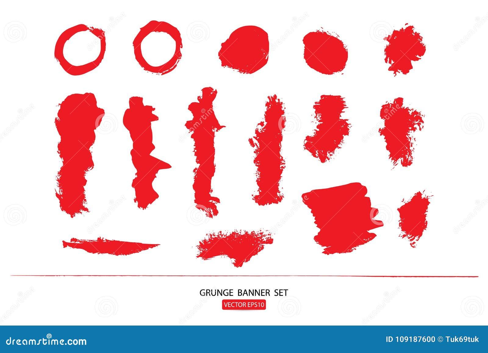 Set rysujący ręka malował porysowanego ilustracja szablon Grunge Halloweenowy tło z krwionośnym splats sztandarów abstrac