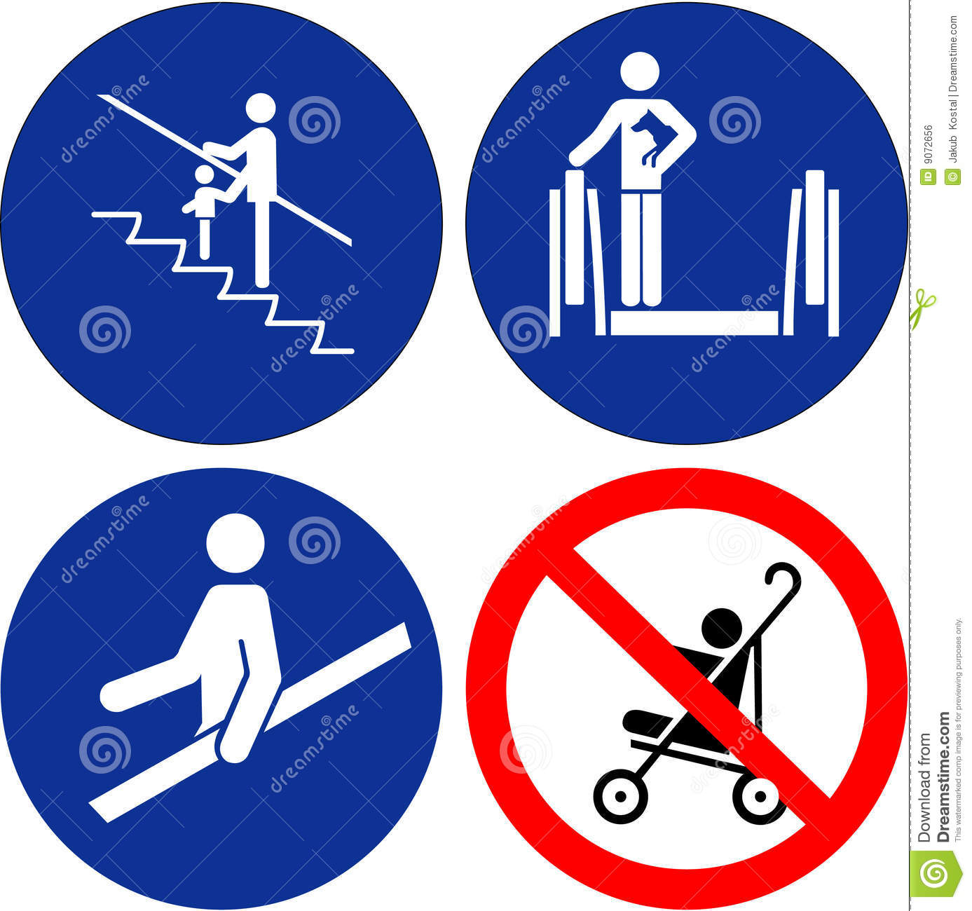 Set Of Safety Symbols Royalty Free Stock Image - Image: 9072656