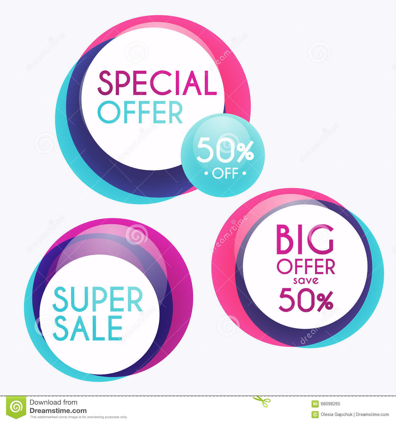 Set Of Sale Banners Design Sale Paper Banner Sale And