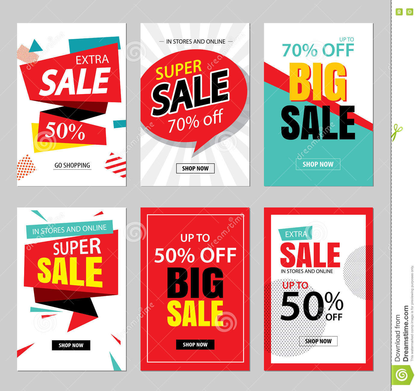 4ae1daa18 Set of sale website banner templates.Social media banners for online  shopping. illustrations for posters, email and newsletter designs, ads, ...
