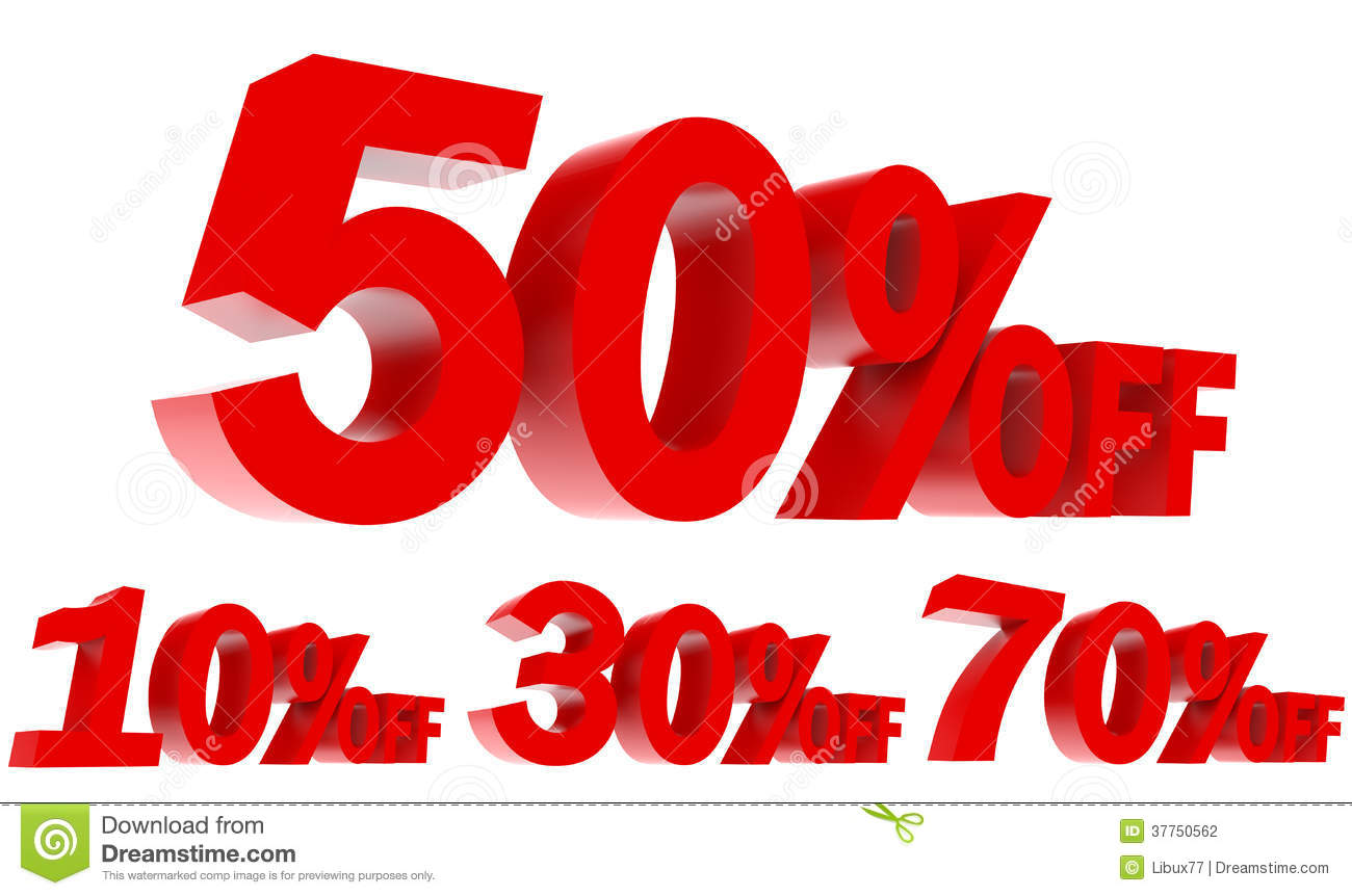 Set Of Sales Promotion Off 3d Text Stock Photography - Image: 37750562