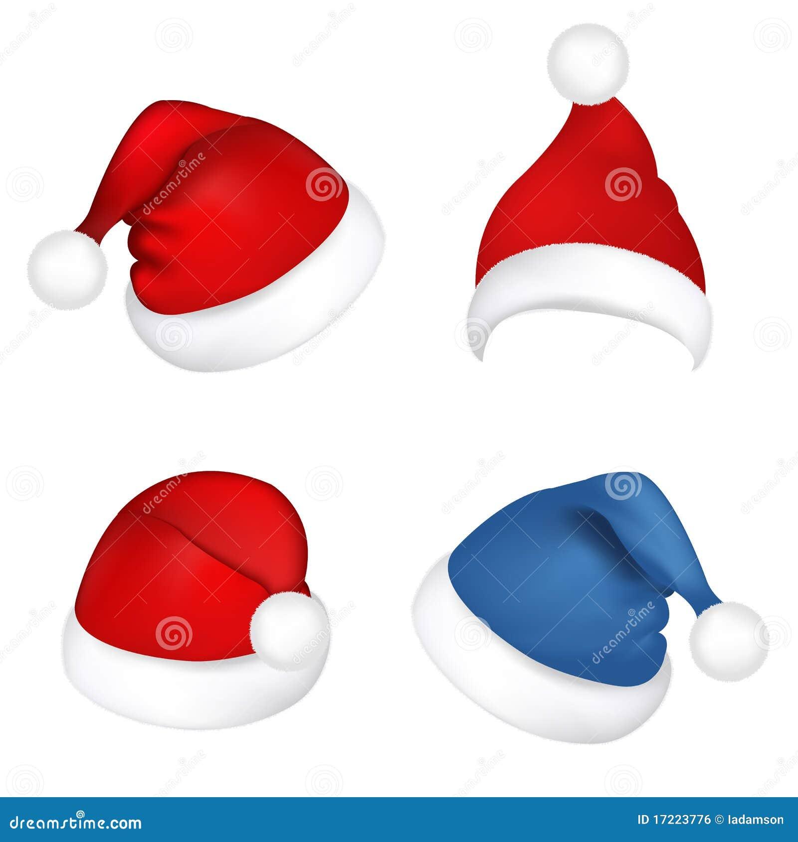 3541188ad1f Set Santa Claus Hats. Vector Stock Vector - Illustration of holiday ...