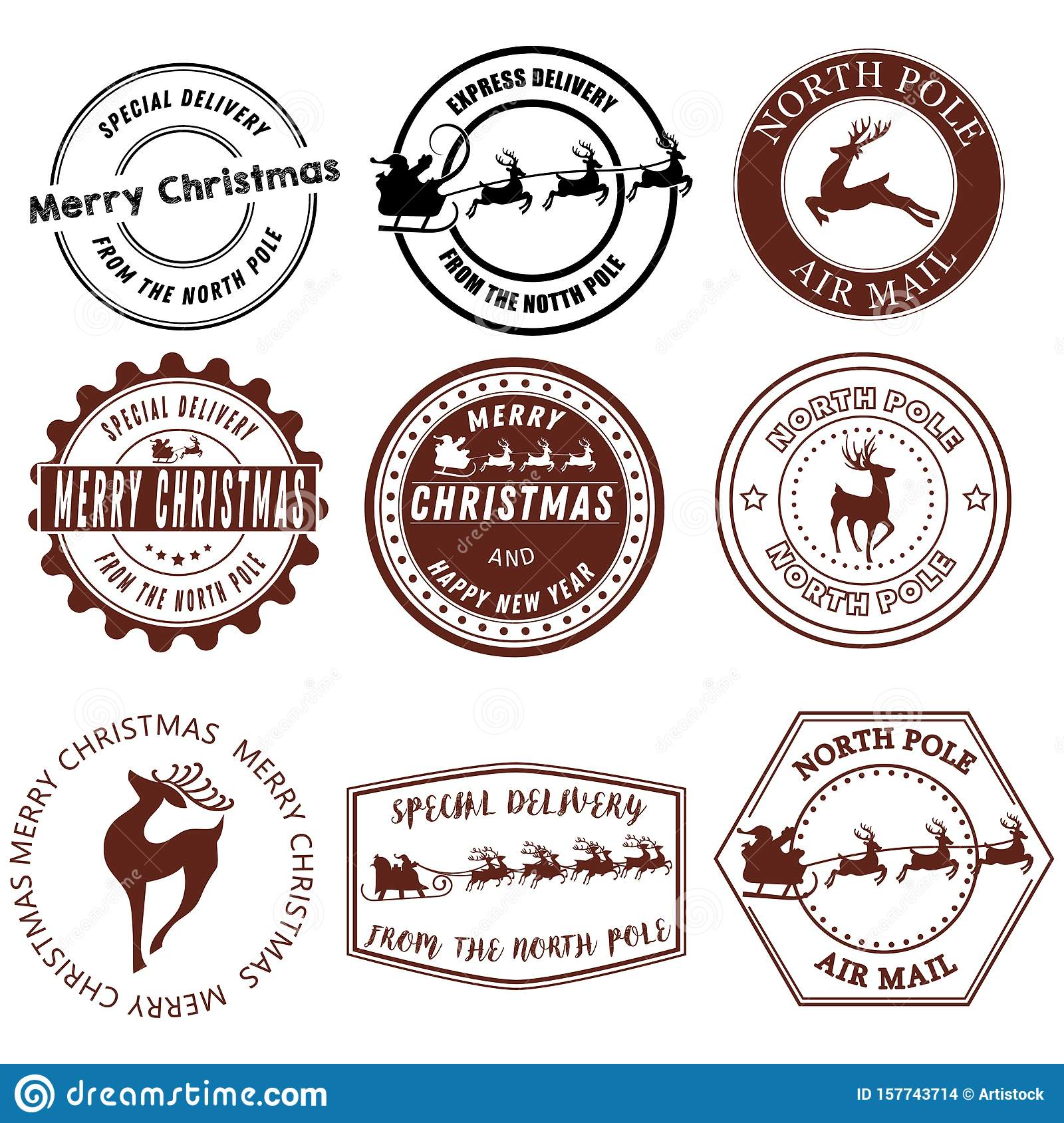 North Pole Mail Stamp Clip Art | Christmas stamps, Christmas lettering,  Wedding stamp
