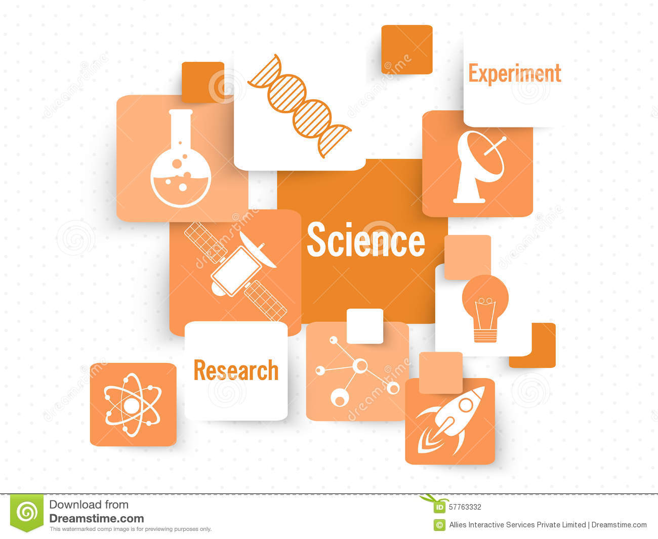 Set of science signs and symbols