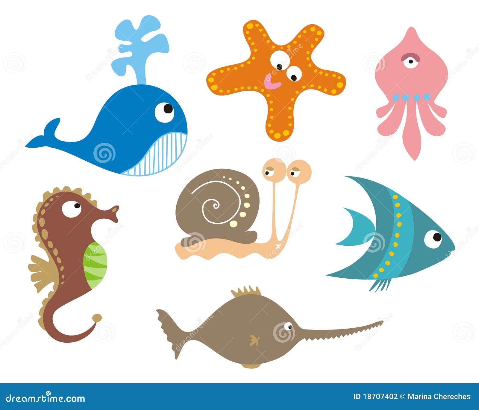 Set Of Sea Animals Sto...