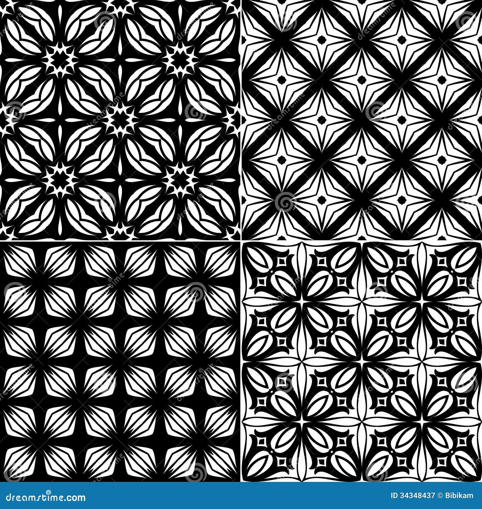 refined modern seamless geometric wallpaper pattern stock vector  - set seamless geometric pattern royalty free stock photography