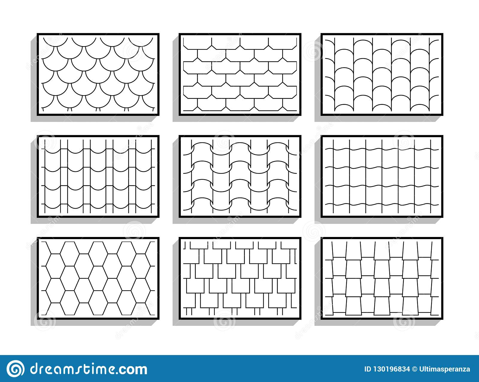 Black And White Hexagon Tiles Pattern Repeat Royalty Free