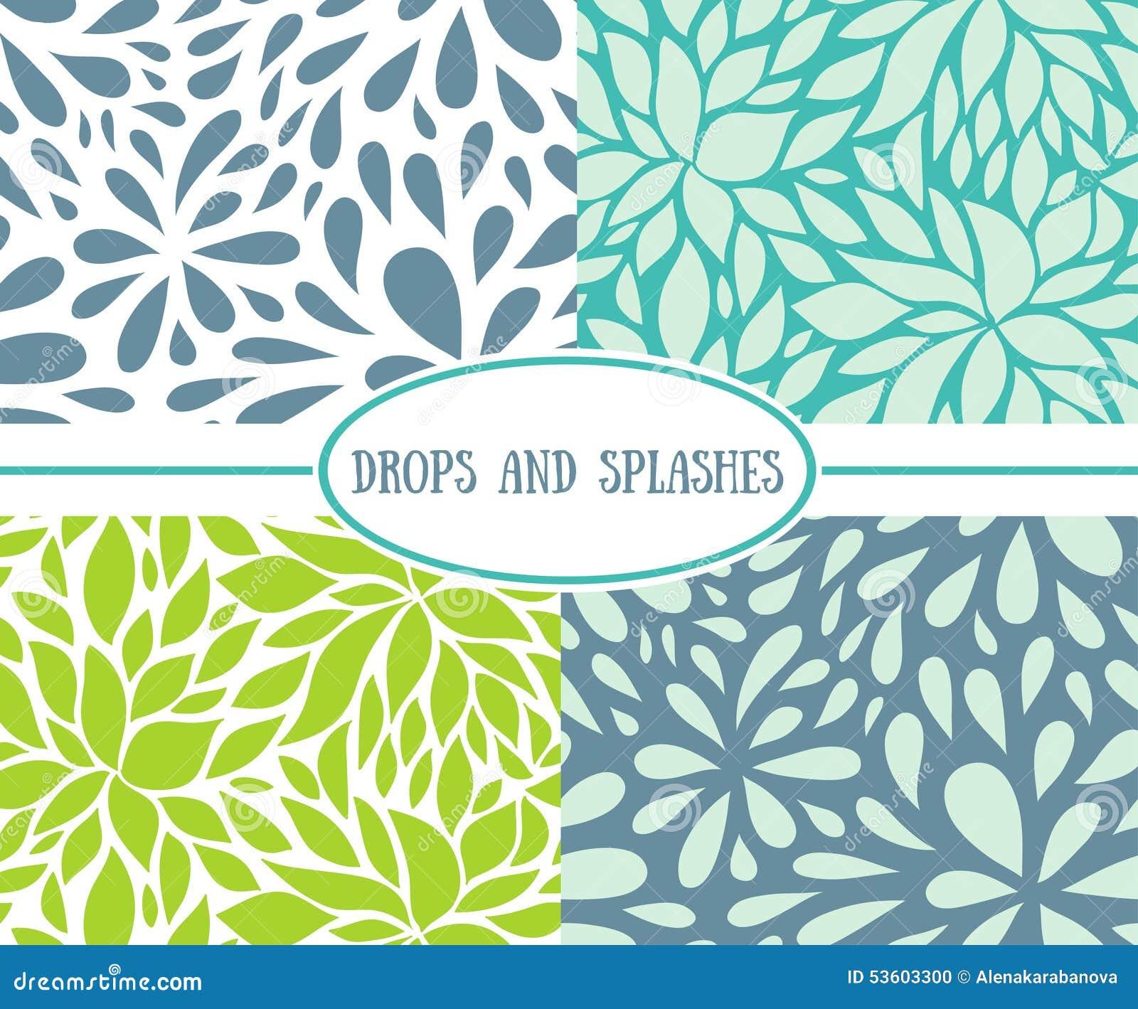 Drops Patterns Simple Inspiration Ideas
