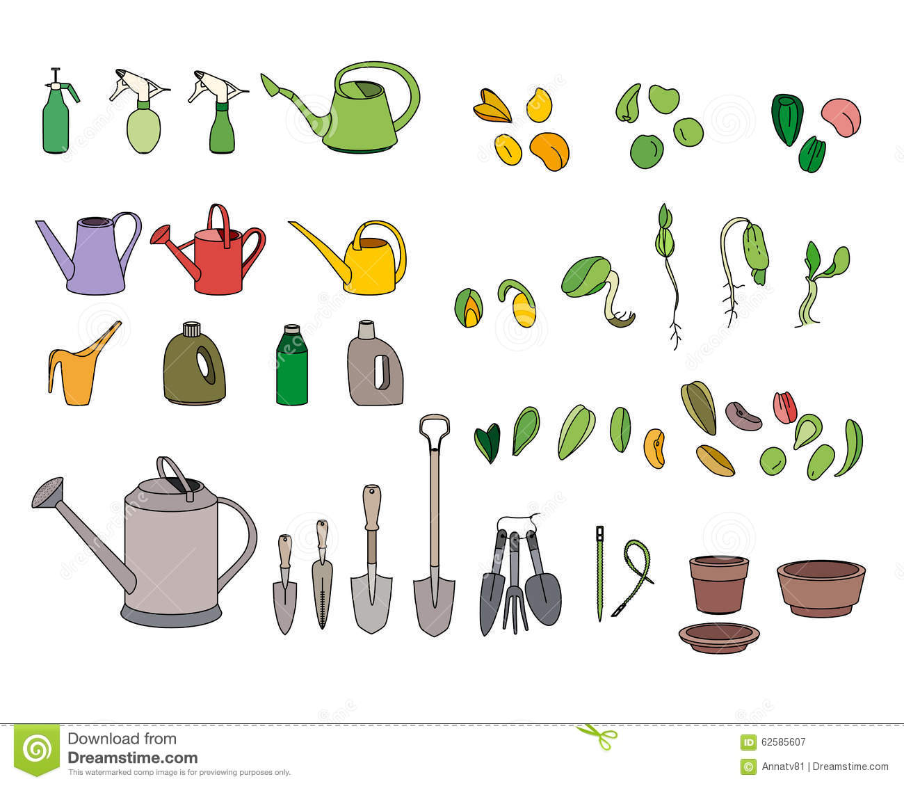 Garden tools and equipments for Tools and equipment in planting