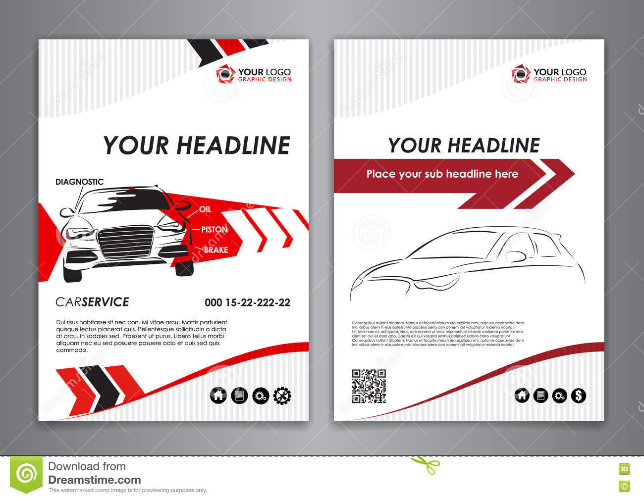A5 a4 set service car business card templates car repair busin download a5 a4 set service car business card templates car repair busin stock vector friedricerecipe Image collections