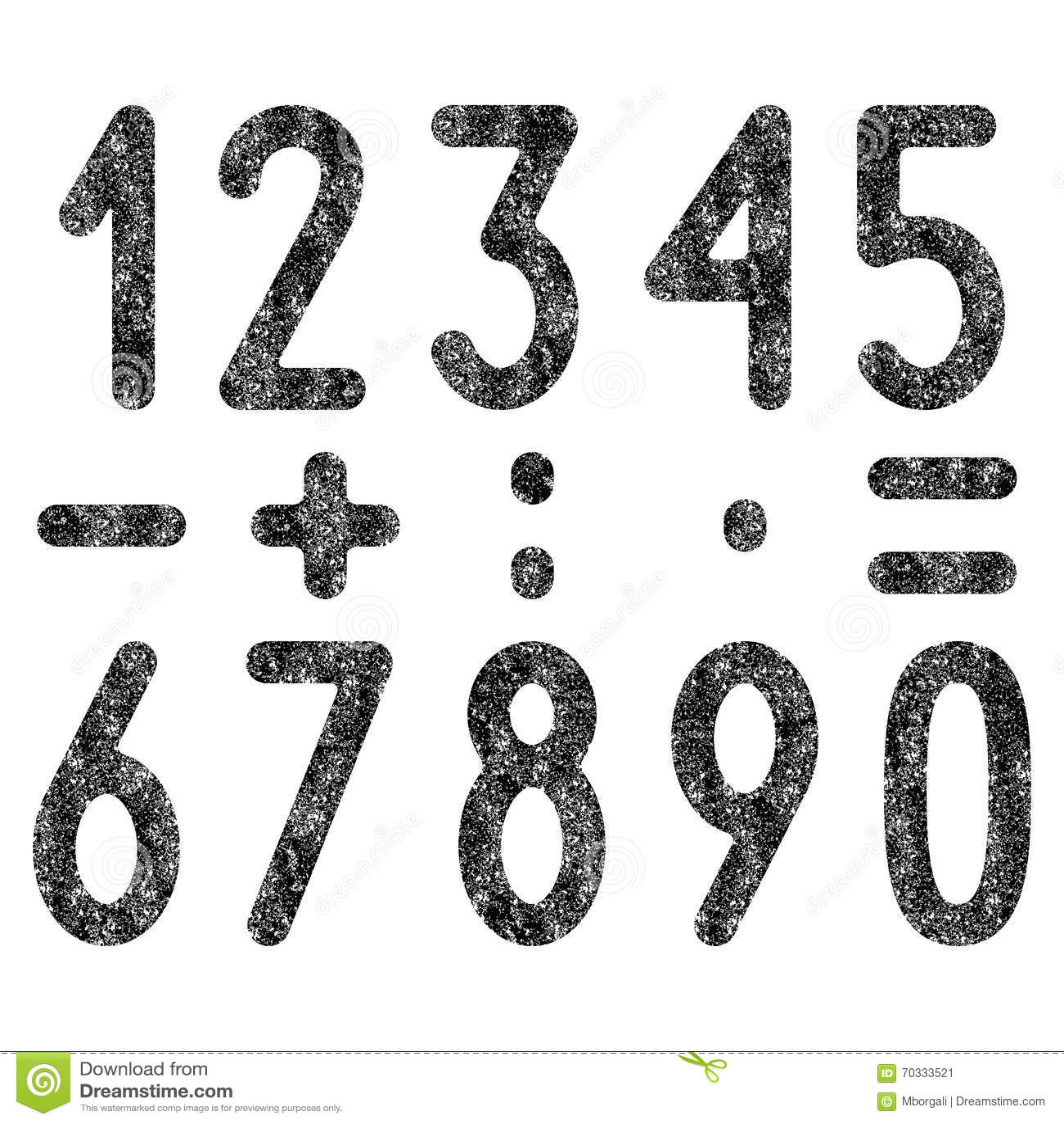 Set of shabby numbers and mathematical symbols stock vector set of shabby numbers and mathematical symbols biocorpaavc Choice Image
