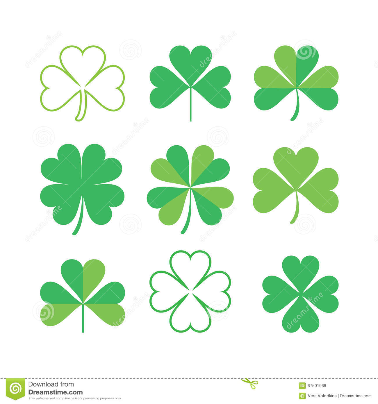 Set of shamrock