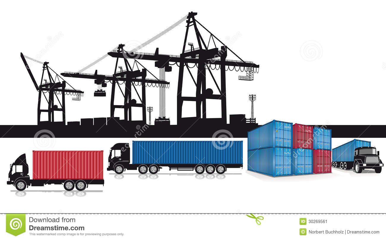 Shipping Containers Set Stock Image - Image: 30269561 C Flat Major Scale