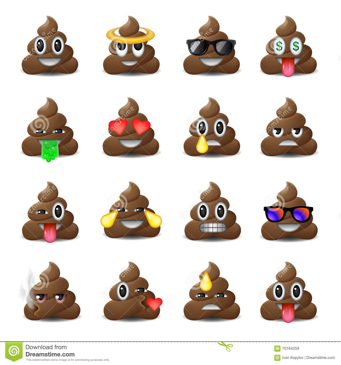 Set of shit icons smiling faces emoji emoticons stock vector set of shit icons smiling faces emoji emoticons buycottarizona