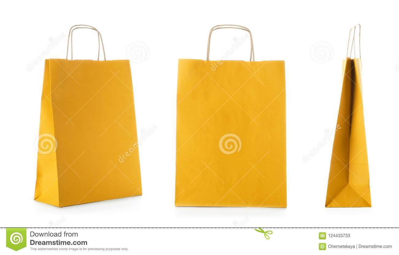 Set with shopping bags