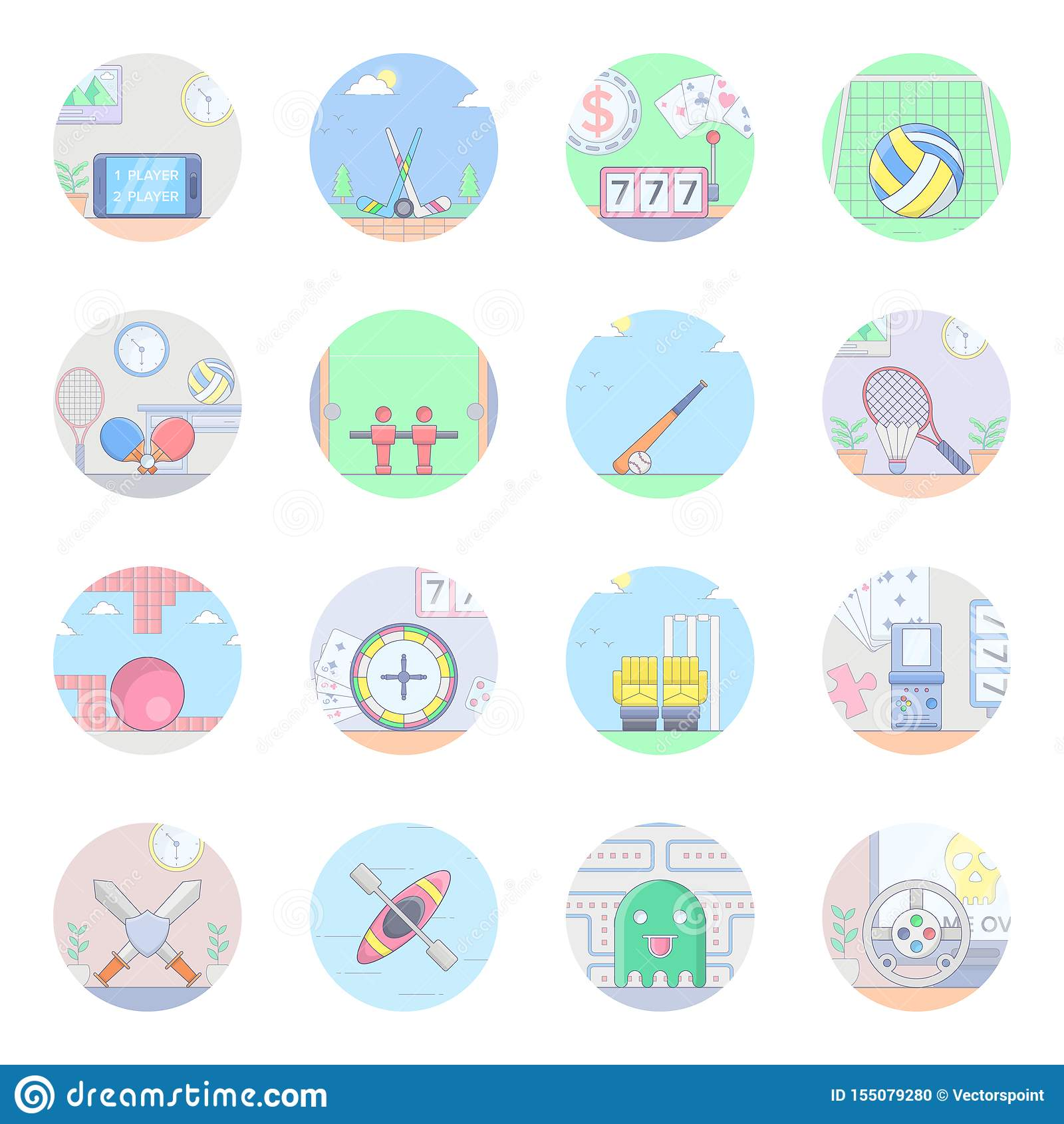 Sports Flat Icons Pack