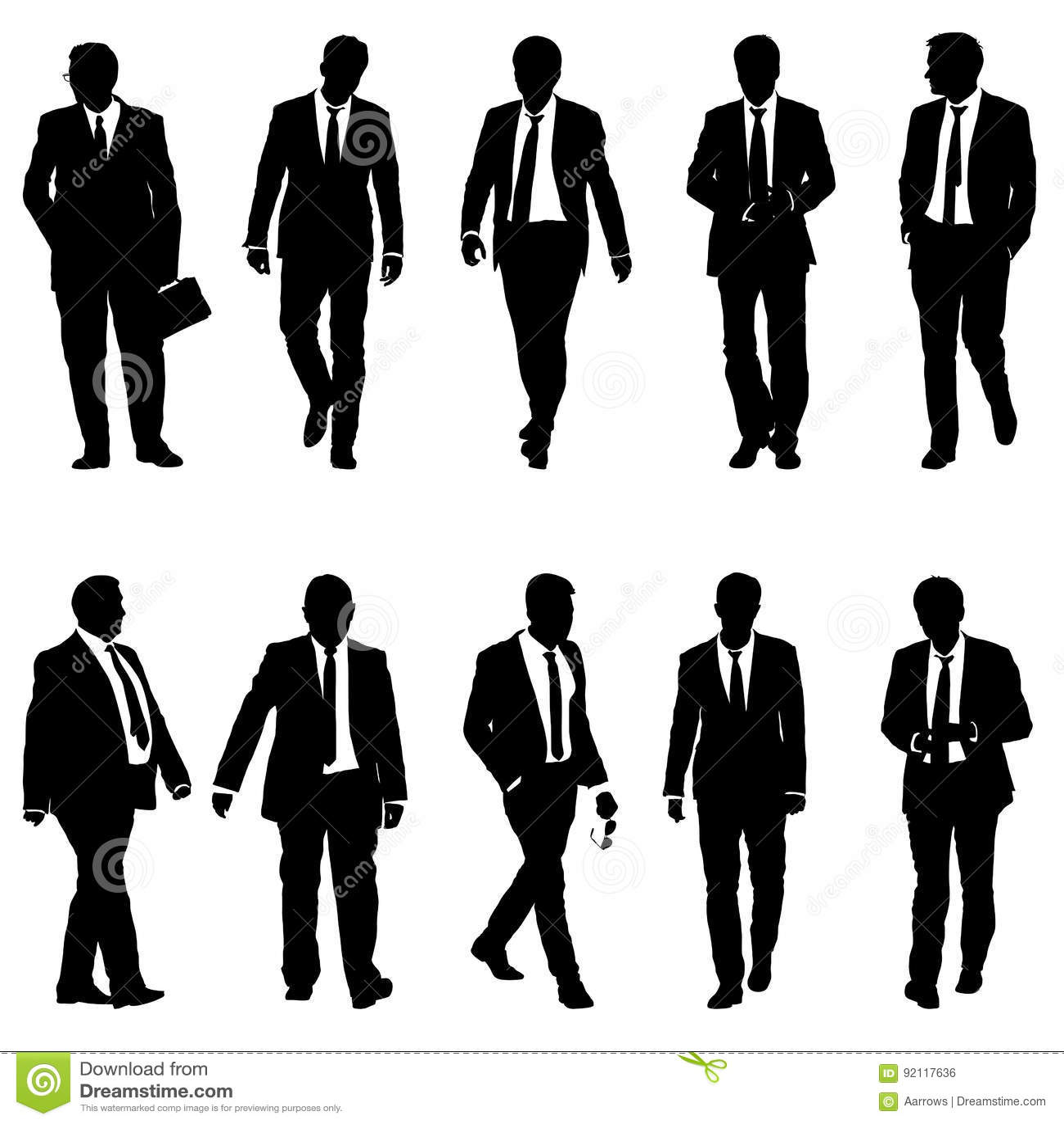 Man Silhouette On White Background. Vector Illustration ...