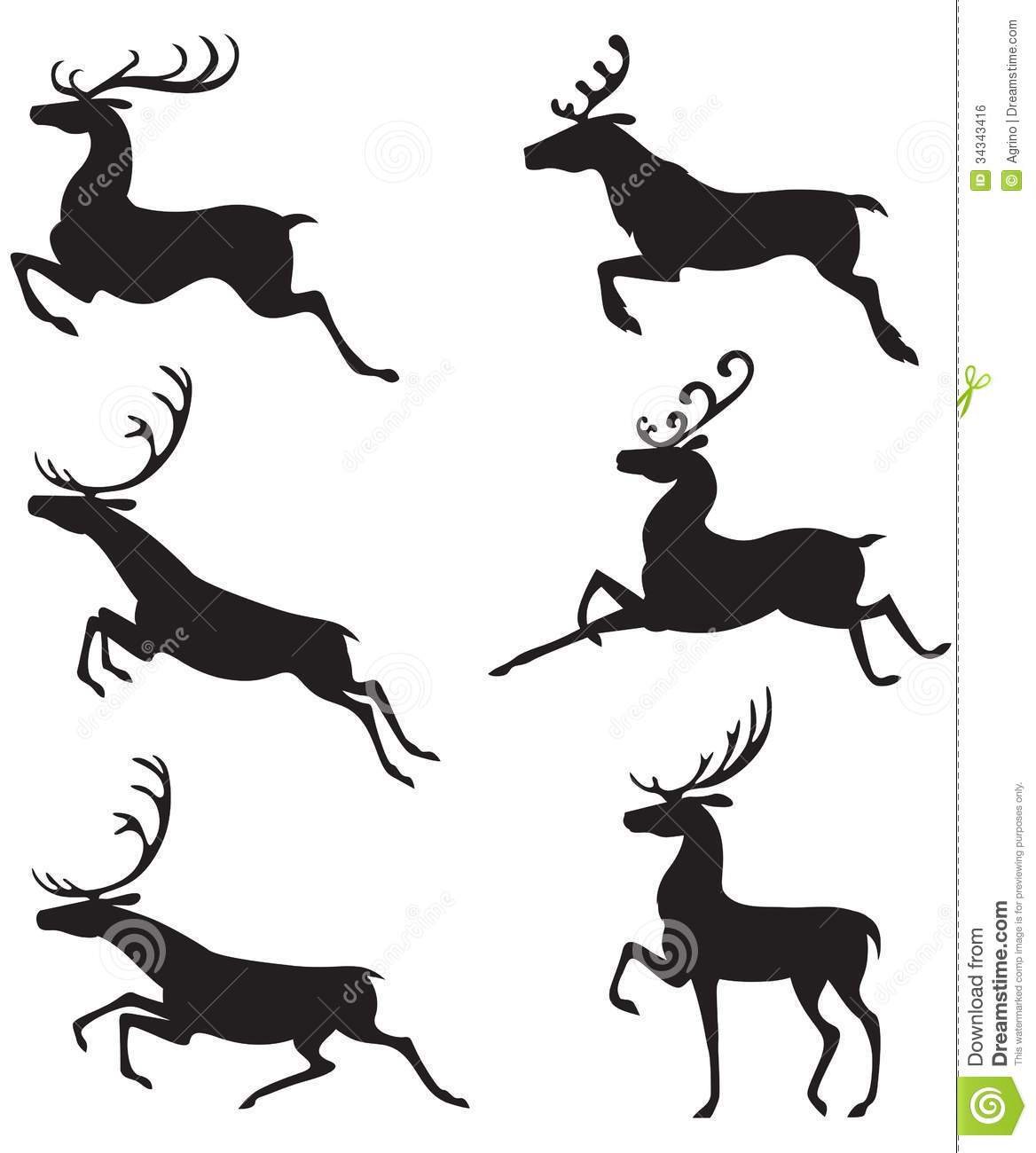 Jumping Reindeer Silhouette Images & Pictures - Becuo