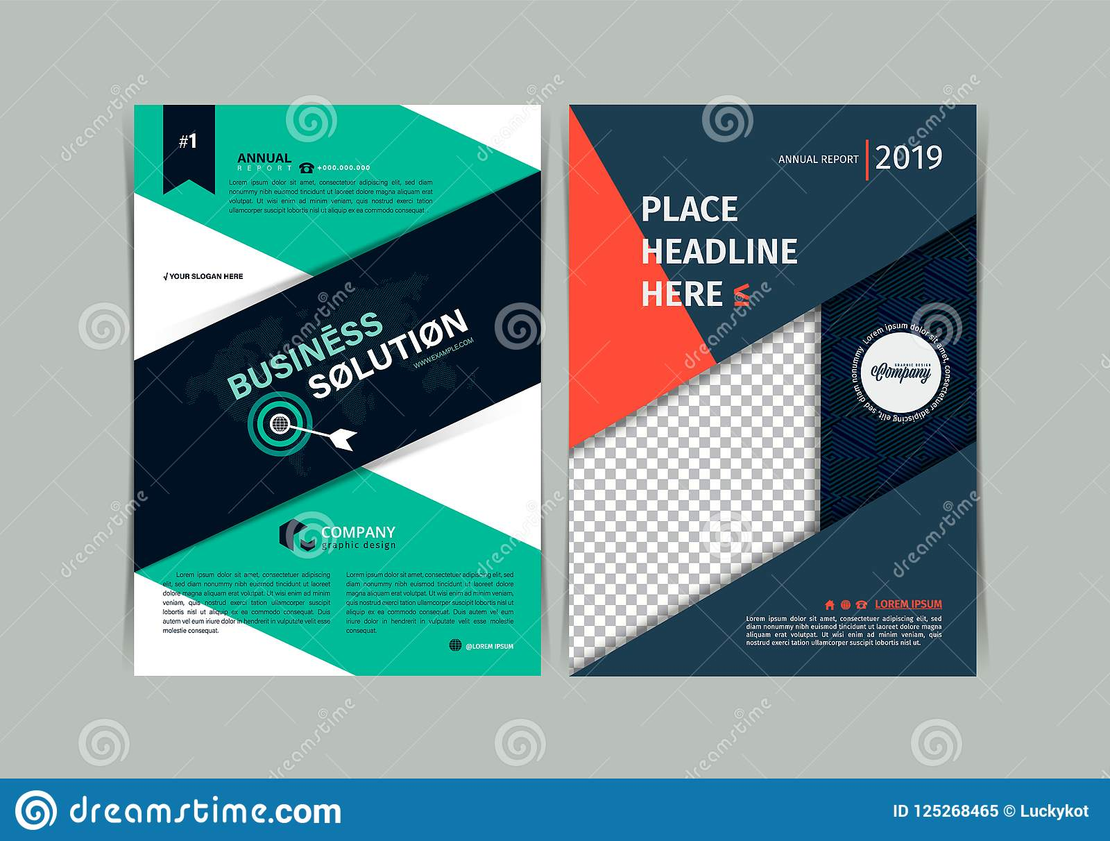 set of simple business flyer brochure flat design template a4 cover