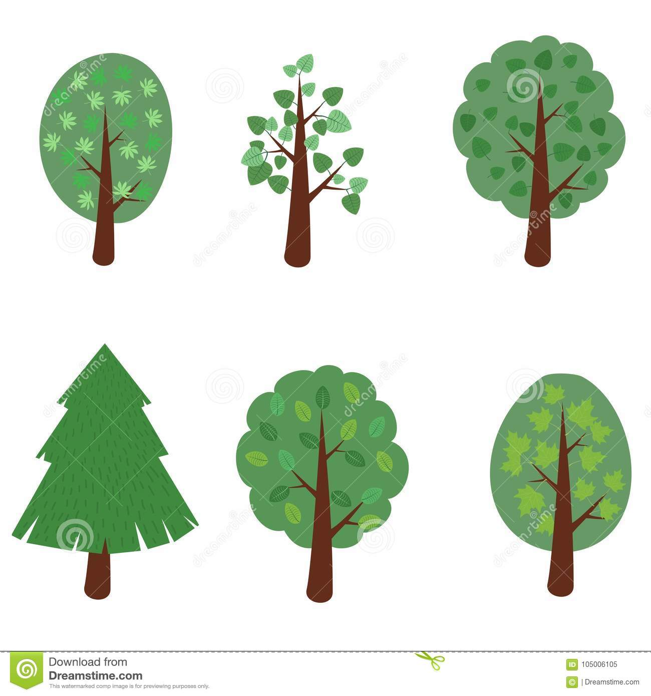 Set Of Simple Cartoon Tree Vector Illustration Stock Vector Illustration Of Abstract Green 105006105 Download 190,000+ royalty free tree cartoon vector images. https www dreamstime com set simple cartoon deciduous trees conifers vector illustration set simple cartoon tree vector illustration image105006105