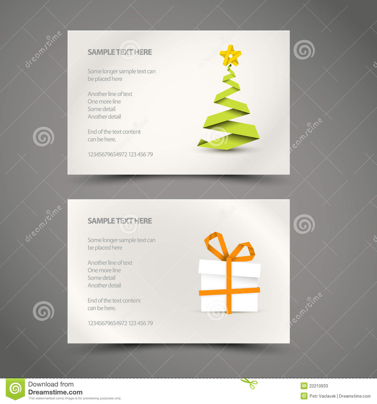 Set Of Simple Christmas Cards Stock Vector - Illustration of ...