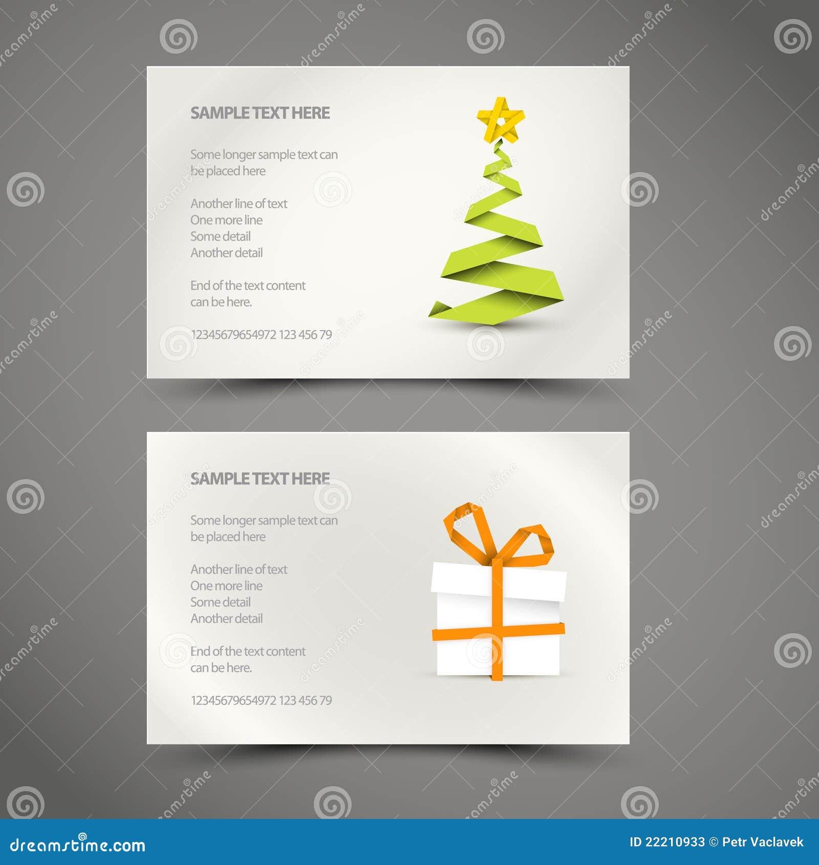 Set Of Simple Christmas Cards Stock Photos Image 22210933
