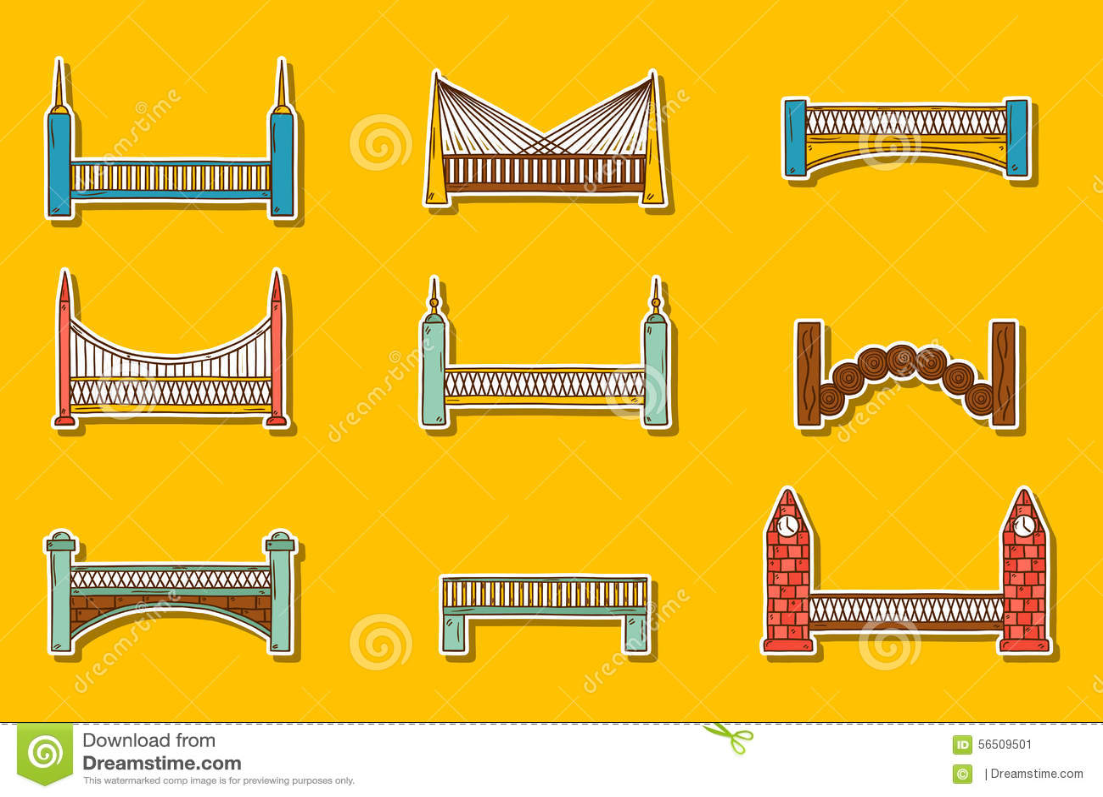 Set Of Water Transport Stickers Vector Illustration