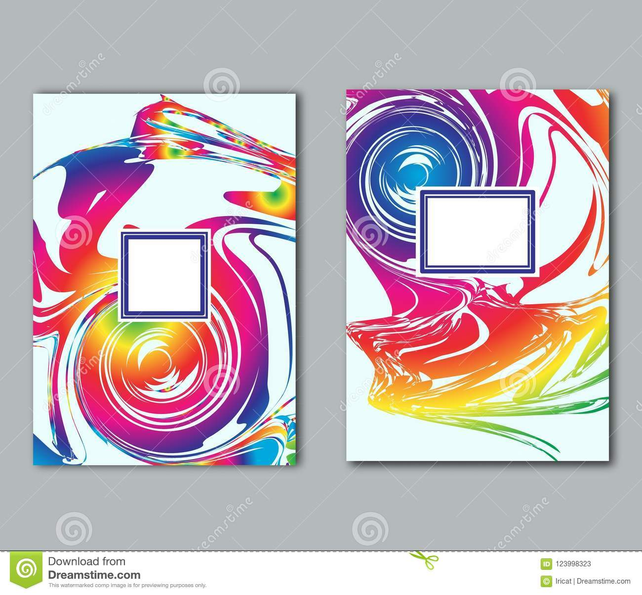 set of simple flyer business card poster or cover design templates