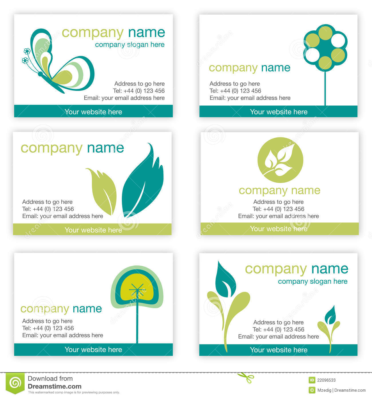 Set of six gardening and nature business cards stock vector gardening and nature business cards royalty free stock photo reheart Gallery
