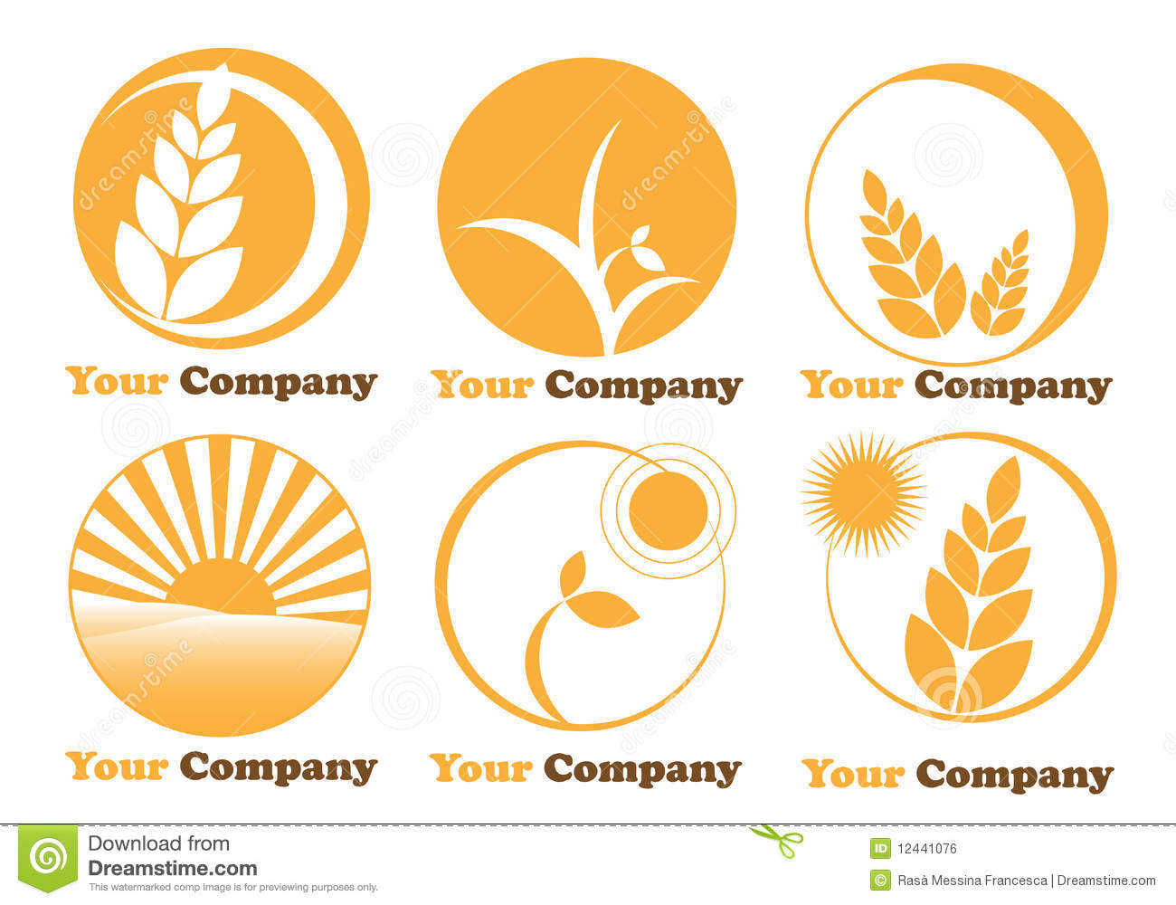 set six logos farming agriculture stock vector illustration of