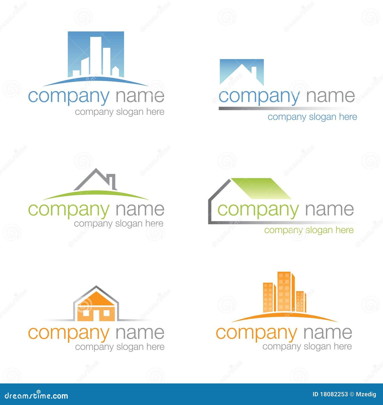 set of six real estate logos  vector  stock vector