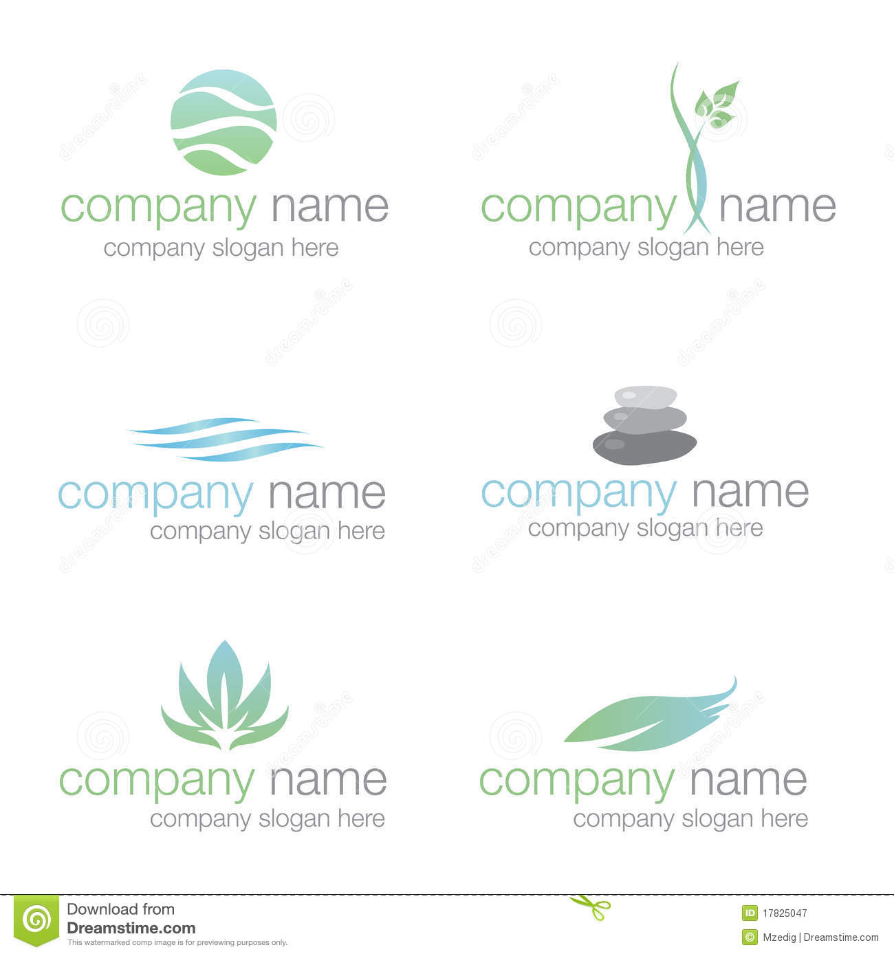 Spa wellness logo  Set Of Six Spa And Wellness Logos (vector) Stock Vector ...