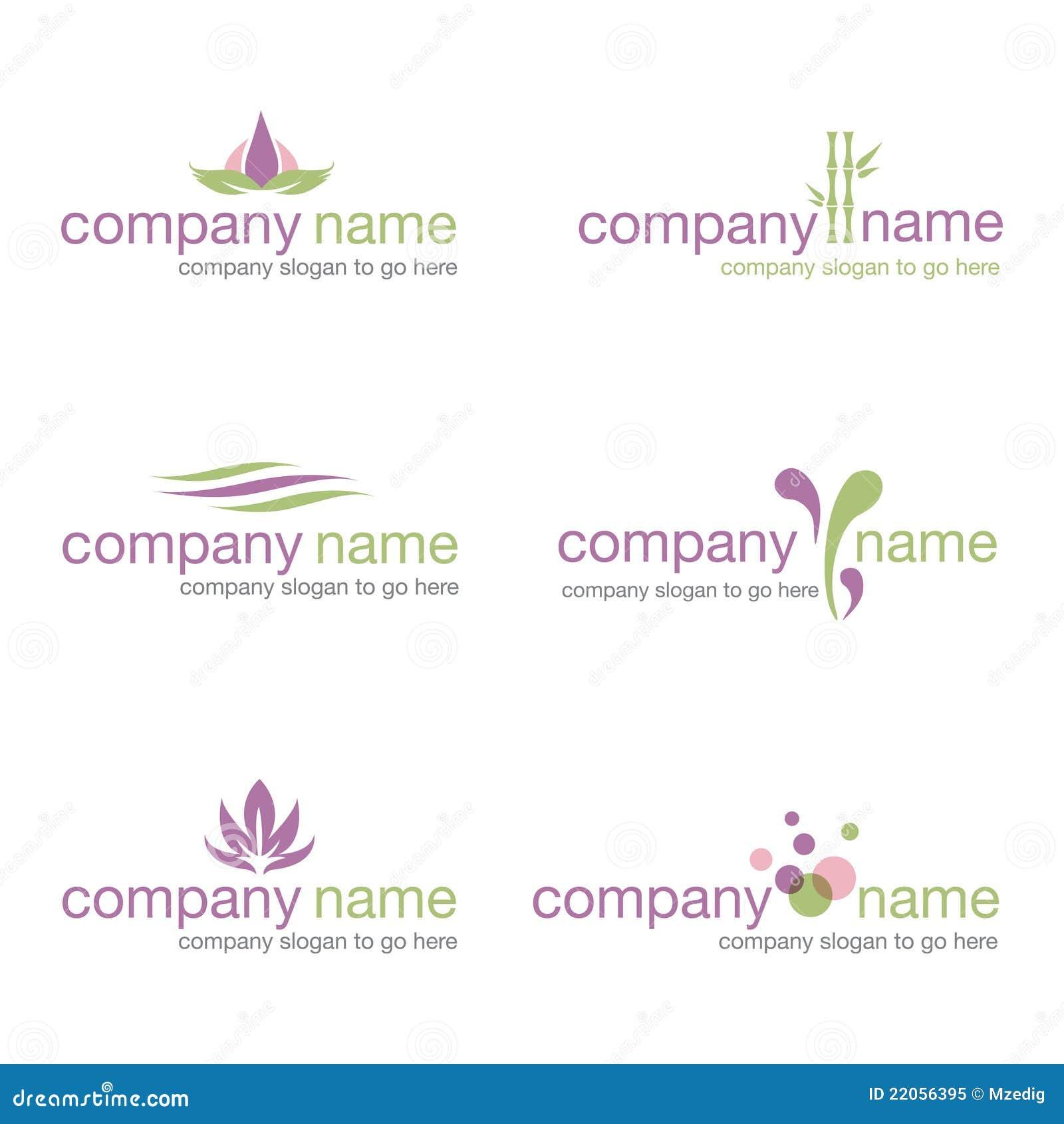 Spa wellness logo  Set Of Six Spa And Wellness Logos (vector) Royalty Free Stock ...