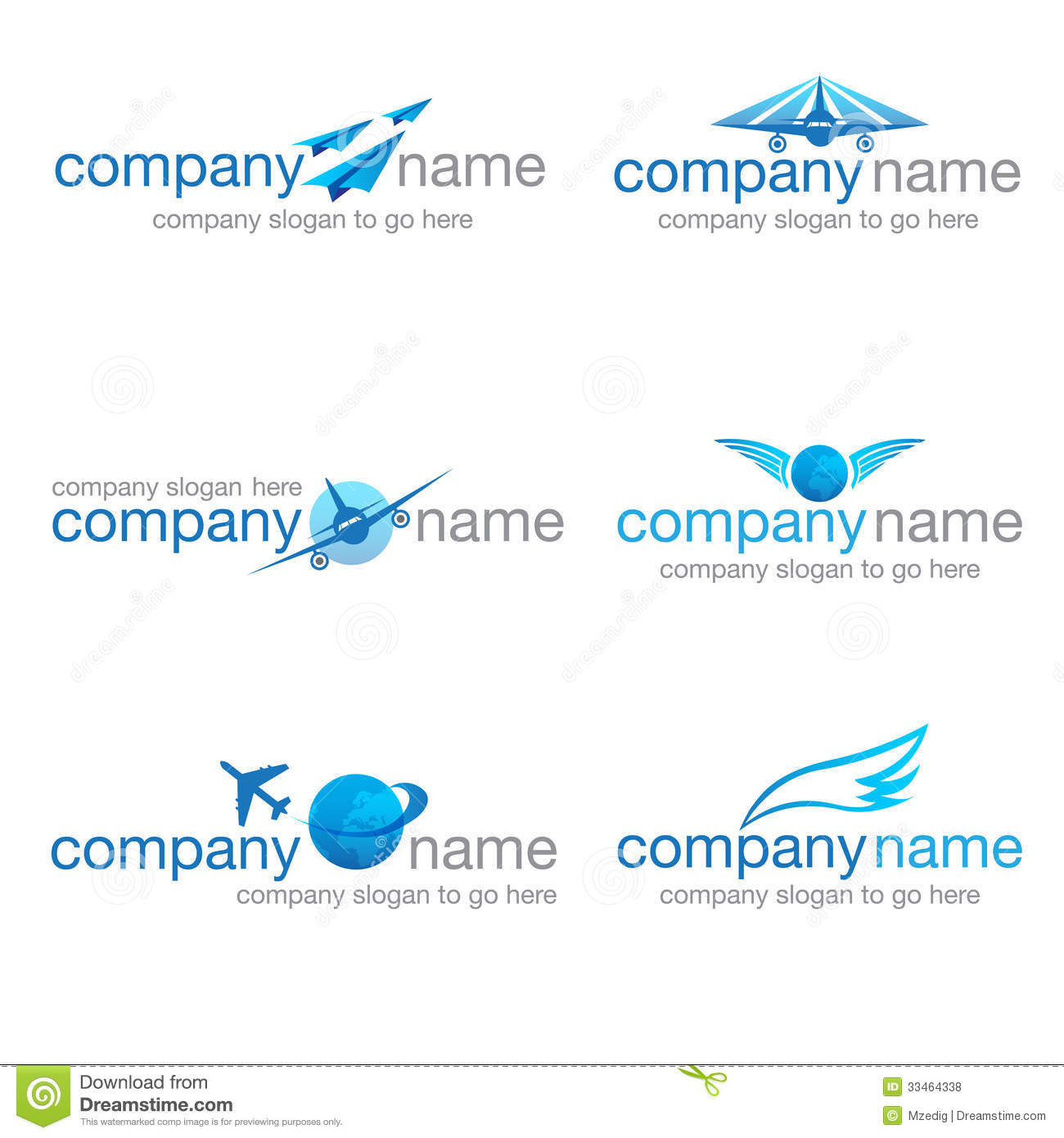 Set Of Six Transport And Travel Logos (vector) Stock Vector
