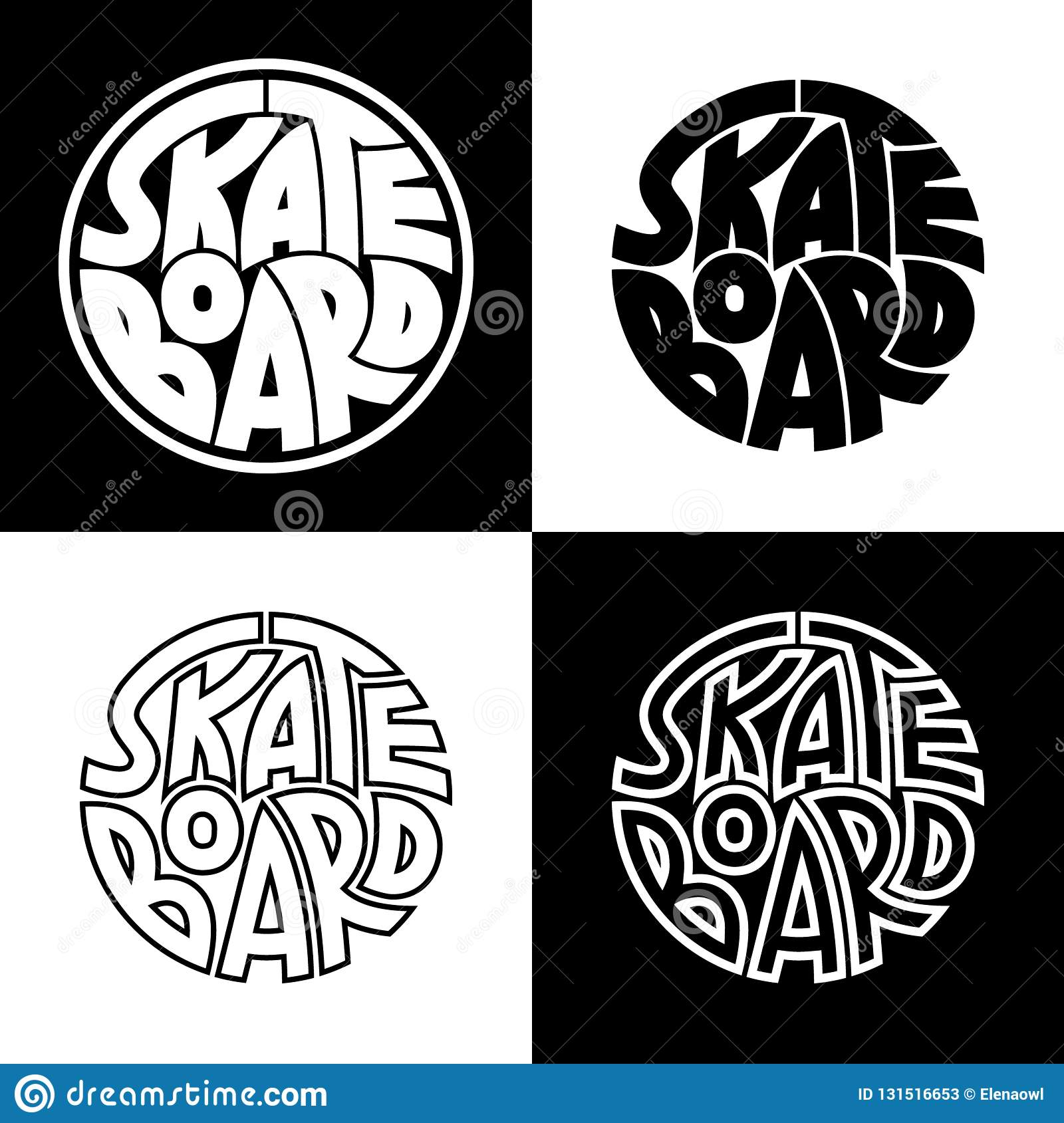Set Of 4 Skateboard Typography Graphics Concept For Print Production T Shirt Fashion Design Template For Poster Print Banner Stock Vector Illustration Of Graphic Design 131516653