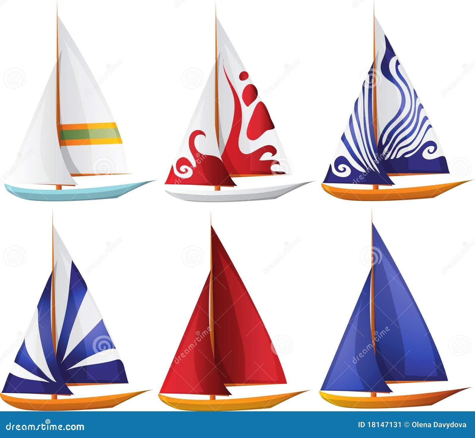 set of small sailing boats stock image image 18147131 clip art sailboat free clip art sailboat outline