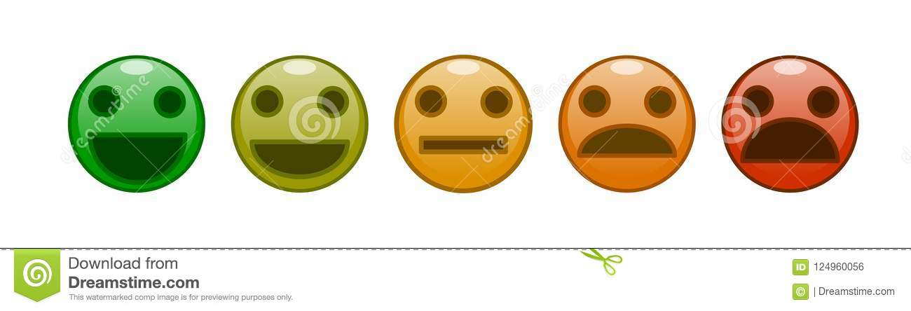 A set of smiles satisfaction rating vector